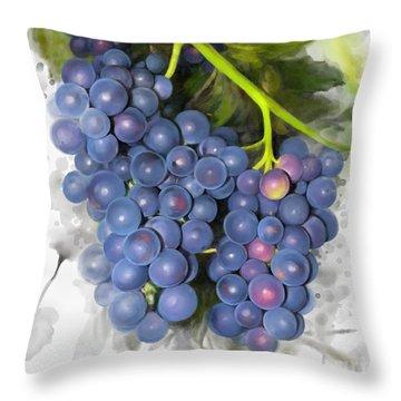 Concord Grape Throw Pillow
