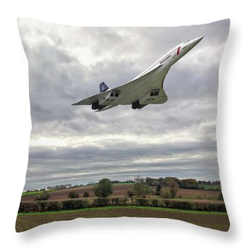 Concorde - High Speed Pass Throw Pillow
