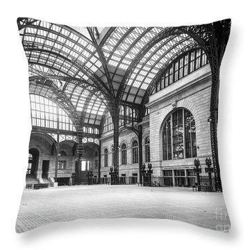 Concourse Pennsylvania Station New York Throw Pillow