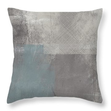 Concrete 3- Contemporary Abstract Art By Linda Woods Throw Pillow