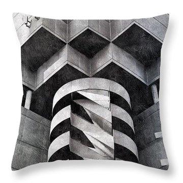 Concrete Geometry Throw Pillow