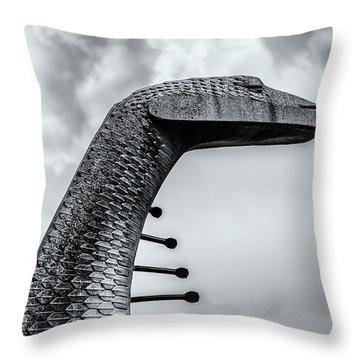 Concrete Serpent Throw Pillow
