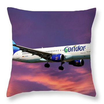Condor Airbus A320-212 Throw Pillow