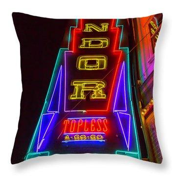 Condor Neon Throw Pillow
