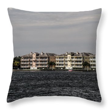 Condos Across The River Throw Pillow