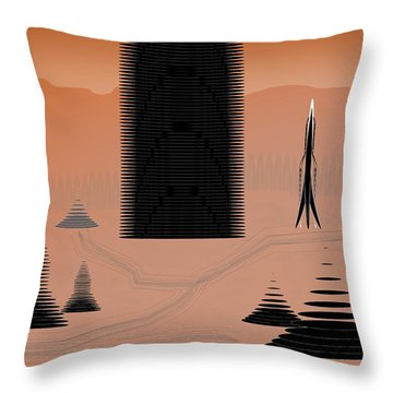 Cone City Throw Pillow by Kevin McLaughlin