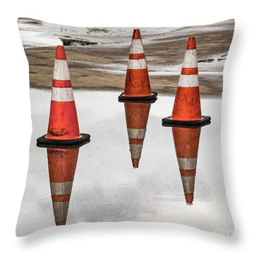 Cone Clouds Throw Pillow