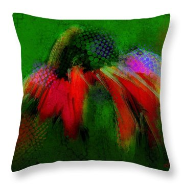 Cone Flower Aug 15 2015 Throw Pillow