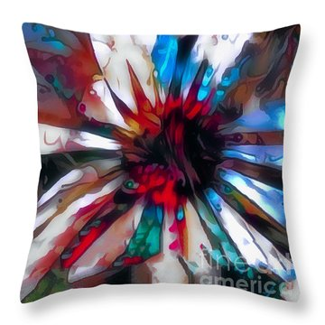 Cone Flower Fantasia I Throw Pillow