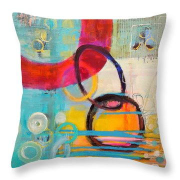 Conections Throw Pillow