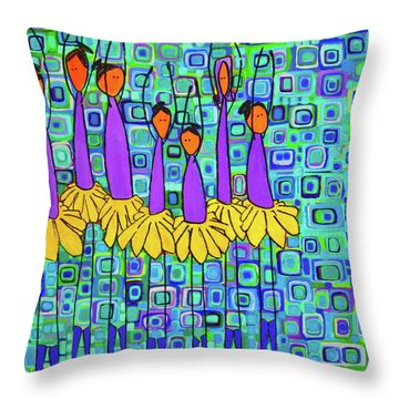 Coneflower Ballet Throw Pillow