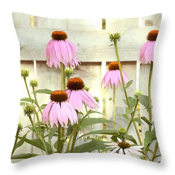 Coneflower Patch Throw Pillow