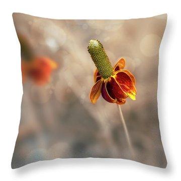 Mexican Hat Prairie Flower Throw Pillow