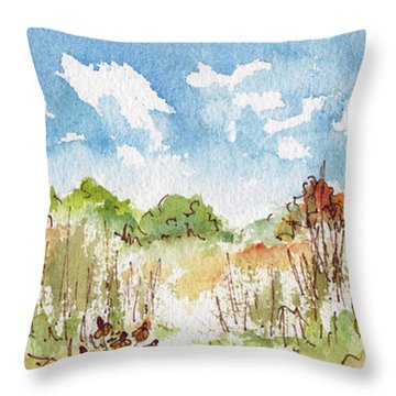 Coneflowers On The Prairie Throw Pillow