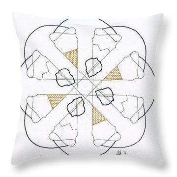 Cones Throw Pillow by Lori Kingston