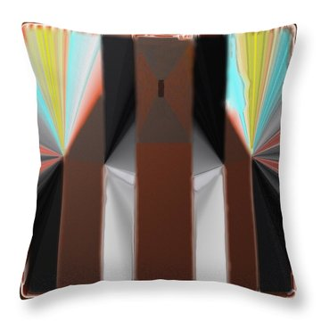 Cones Of Light Throw Pillow