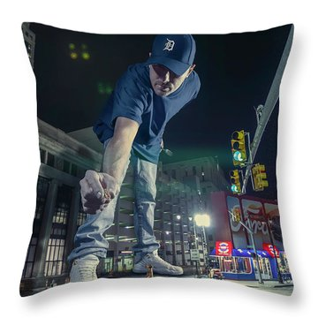 Throw Pillow featuring the photograph Coney Anyone? by Nicholas Grunas