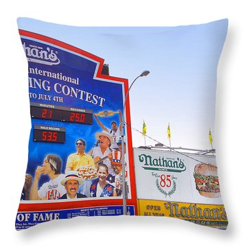Coney Island Memories 10 Throw Pillow by Madeline Ellis