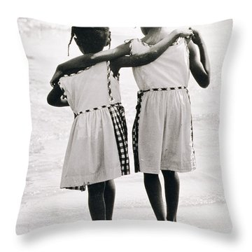 Coney Island Sisters Throw Pillow