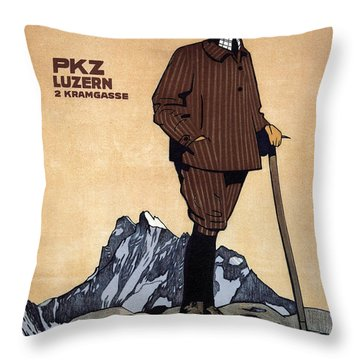 Confection Kehl - Men's Clothing - Vintage Advertising Poster Throw Pillow