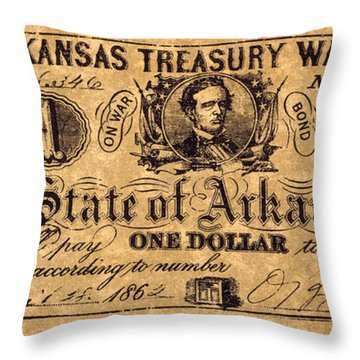 Confederate Banknote Throw Pillow by Granger
