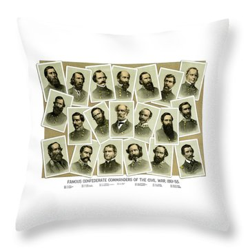 Confederate Commanders Of The Civil War Throw Pillow