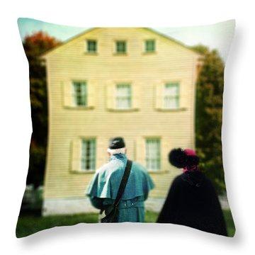 Confederate Couple Throw Pillow