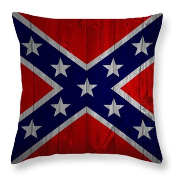 Confederate Flag Barn Door Throw Pillow