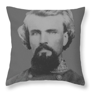Confederate General Nathan Forrest Throw Pillow