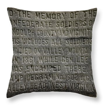 Confederate Solider Monument Throw Pillow