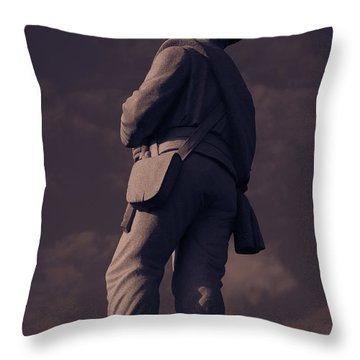 Confederate Statue Throw Pillow
