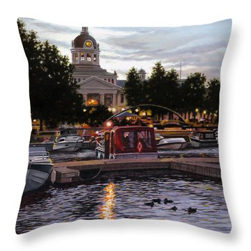 Confederation Park Throw Pillow by Richard De Wolfe