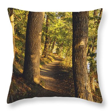 Conference Point Path - Lake Geneva Wisconsin Throw Pillow