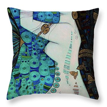Confessions In Blue Throw Pillow