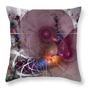 Confetti - Fractal Art Throw Pillow