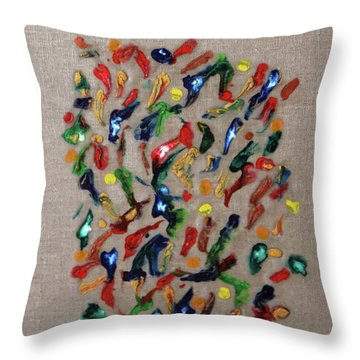 Throw Pillow featuring the painting Confetti by Deborah Boyd