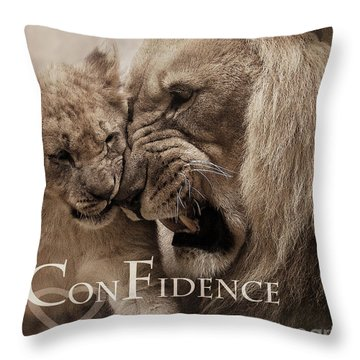 Throw Pillow featuring the photograph Confidence by Christine Sponchia