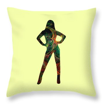 Confident Throw Pillow by Anastasiya Malakhova
