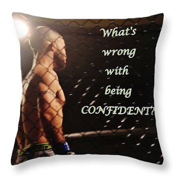 Confident Throw Pillow