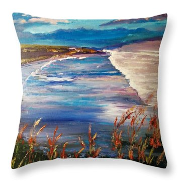 Conflict Of Colors Throw Pillow