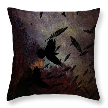 Conflict Of The Crows Throw Pillow