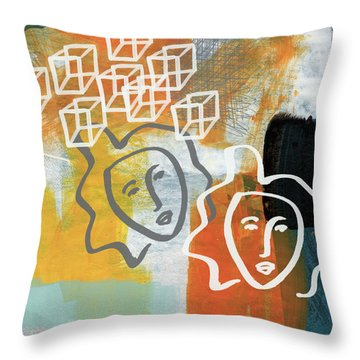 Conflicting Emotions Throw Pillow