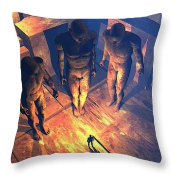 Confronted By Malignant Forces Throw Pillow