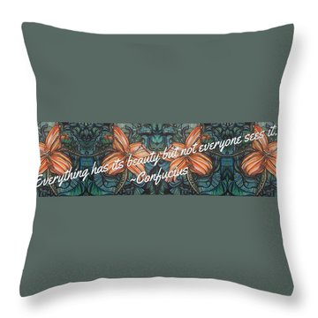 Confucius Beauty  Throw Pillow