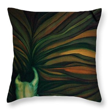 Throw Pillow featuring the painting Confused by Fei A