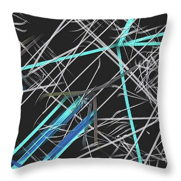 Throw Pillow featuring the digital art Confused by Visual Artist Frank Bonilla