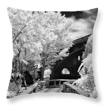 Congaree River Boardwalk Throw Pillow