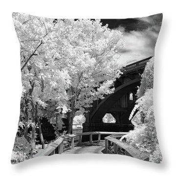 Congaree River Boardwalk Throw Pillow