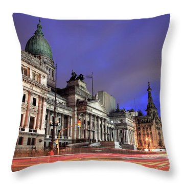 Throw Pillow featuring the photograph Congress  by Bernardo Galmarini