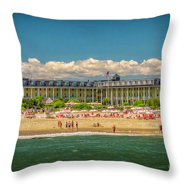 Congress Hall In Cape May Throw Pillow
